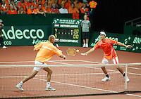 23-9-06,Leiden, Daviscup Netherlands-Tsjech Republic, doubles, Peter Wesels ans Rogier Wassen(r)