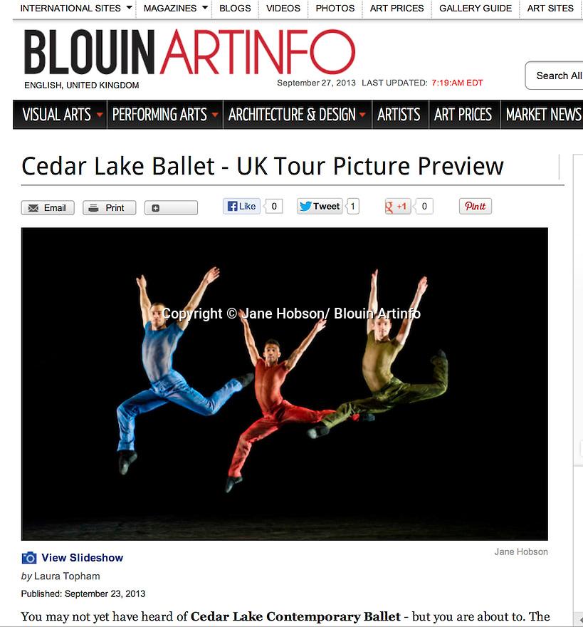 Cedar Lake Contemporary Ballet, Blouin Art Info 27.09.13