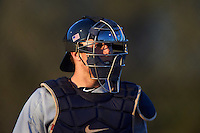 Georgetown Hoyas catcher Richie O'Reilly (11) during a game against the Chicago State Cougars on March 3, 2017 at North Charlotte Regional Park in Port Charlotte, Florida.  Georgetown defeated Chicago State 11-0.  (Mike Janes/Four Seam Images)