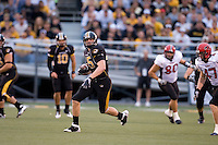 06 September 2008: Missouri tight end Chase Coffman #45 turns upfield after catching a pass during first quarter action against Southeast Missouri State at Memorial Stadium in Columbia, Missouri.