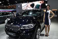 SAO PAULO, SP, 02.11.2014 - SALAO DO AUTOMOVEL - BMW X5 M Sport em exposi&ccedil;&atilde;o<br />  durante o quarto dia do 28&ordm; Sal&atilde;o Internacional do Autom&oacute;vel no Anhembi na regi&atilde;o norte de S&atilde;o Paulo, neste domingo, 02. (Foto: Marcos Moraes / Brazil Photo Press).