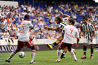Carvalho de Oliveira Amauri (11) of Juventus F. C. scores in the 90th minute. The New York Red Bulls defeated Juventus F. C. 3-1 during a friendly at Red Bull Arena in Harrison, NJ, on May 23, 2010.