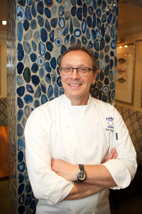 NEW YORK, NY - May 26, 2017: Chef Bill Telepan, born in New Jersey, is at the helm of Oceana in Rockefeller Center.<br /> <br /> Credit: Clay Williams for Edible Jersey.<br /> <br /> &copy; Clay Williams / http://claywilliamsphoto.com