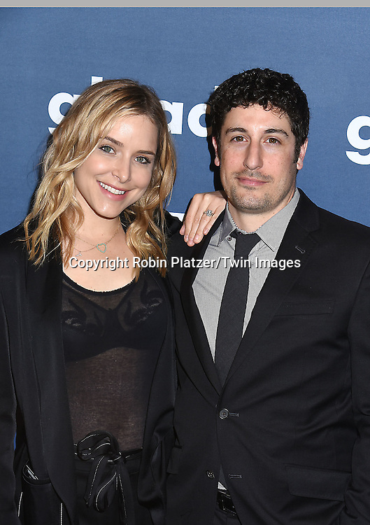 Jason Biggs and wife attend the 27th Annual GLAAD Media Awards on May 14, 2016 at the Waldorf Astoria Hotel in New York City, New York, USA.<br /> <br /> photo by Robin Platzer/Twin Images<br />  <br /> phone number 212-935-0770
