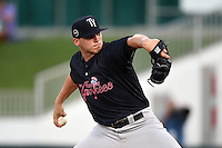 Tampa Yankees pitcher Rookie Davis (35) delivers a pitch during a game against the Fort Myers Miracle on April 15, 2015 at Hammond Stadium in Fort Myers, Florida.  Tampa defeated Fort Myers 3-1 in eleven innings.  (Mike Janes/Four Seam Images)