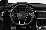 Car pictures of steering wheel view of a 2019 Audi A6 Avant Sport 5 Door Wagon