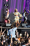 © Joel Goodman - 07973 332324 - all rights reserved . 25/08/2019. Manchester, UK. PIXIE LOTT performs on the stage . Fans of Ariana Grande and other musical acts gather at Mayfield Depot ahead of performances this evening . Manchester's annual Gay Pride festival , which is the largest of its type in Europe , celebrates LGBTQ+ life . Photo credit : Joel Goodman