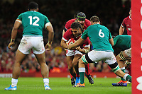 Josh Navidi of Wales in action during the under armour summer series 2019 match between Wales and Ireland at the Principality Stadium, Cardiff, Wales, UK. Saturday 31st August 2019