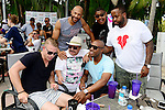 MIAMI BEACH, FL - JUNE 21:, (Top) Stephen Bishop, Omar Benson Miller, Kenny Hamilton, (bottom) Guest, Chuy Bravo, Jay Williams attend DJ Irie Weekend-IWX - BBQ Beach Bash Pool Party at National Hotel on Saturday June 21, 2014 in Miami Beach, Florida. (Photo by Johnny Louis/jlnphotography.com)