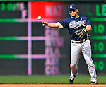 2 April 2011: Atlanta Braves second baseman Dan Uggla in action against the Washington Nationals at Nationals Park in Washington, District of Columbia. The Nationals defeated the Braves 6-3 in the second game of their season opening series. Mandatory Credit: Ed Wolfstein Photo