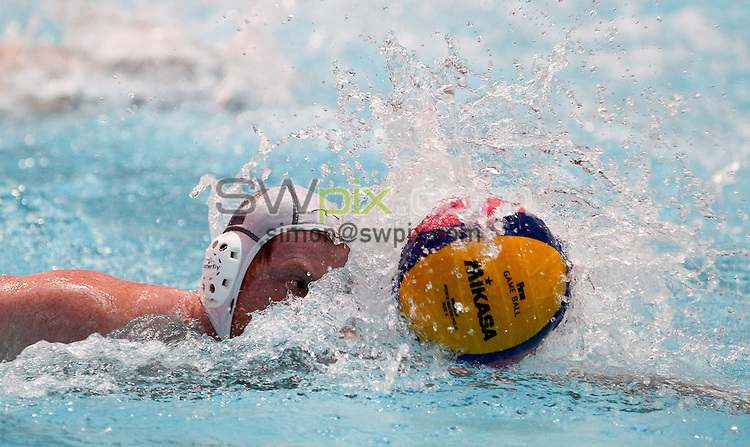 PICTURE BY ALEX WHITEHEAD/SWPIX.COM - Water Polo - British Gas Water Polo Championships 2013 - Men's 3rd Place, Manchester v Cheltenham - Manchester Aquatics Centre, Manchester, England - 24/02/13 - Cheltenham player.