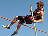 Scott Henneberger of Garden City clears the bar in the pole vault event during Day 1 of the Nassau County track & field individual championships and state qualifiers at North Shore High School in Glen Head on Wednesday, May 30, 2018.