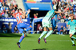 Atletico de Madrid Marta Corredera and FC Barcelona Leila Ouahabi during match of La Liga Femenina between Atletico de Madrid and FC Barcelona at Vicente Calderon Stadium in Madrid, Spain. December 11, 2016. (ALTERPHOTOS/BorjaB.Hojas)