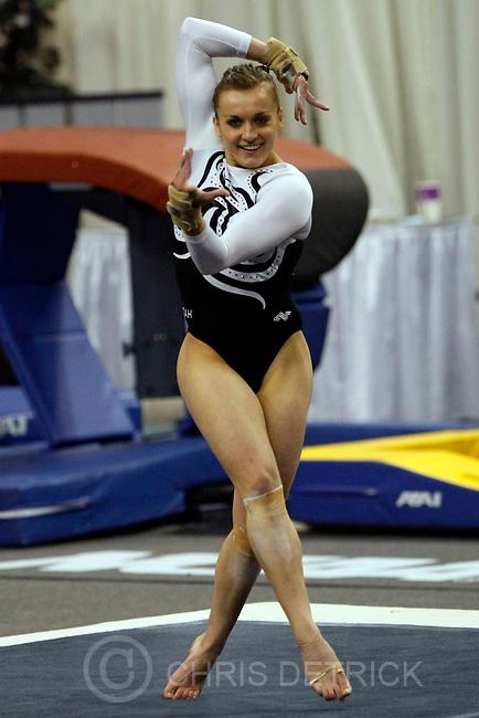 Utah's Daria Bijak competes on the floor exercise during the 2009 Individual Event Finals at the University of Nebraska's Bob Devaney Sports Center Saturday, April 18, 2009.  ..Chris Detrick/The Salt Lake Tribune