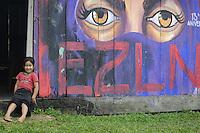 Messico, Chiapas, La Realidad.Novembre 2010.Comunità Zapatista.Bambina