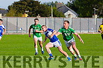 In Action  KOR's David McLoughlin and Maine's Brendan Delaney at the Garveys Senior Football Championship Kerins O'Rahilly V Milltown/Castlemaine at Strand Rd on Sunday