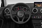 Car pictures of steering wheel view of a 2019 Audi A3 Sportsportback Sport 5 Door Hatchback
