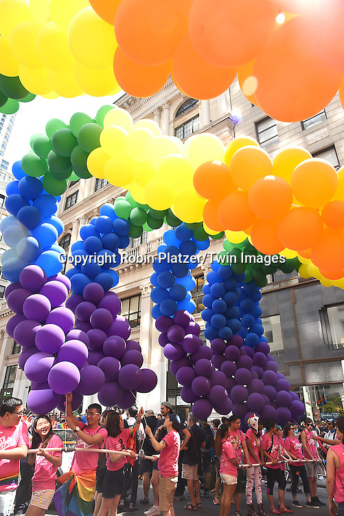 Atmosphere attends the New York City Gay Pride March 2016 on June 26, 2016 on Fifth Avenue in New York City, New York, USA.<br /> <br /> photo by Robin Platzer/Twin Images<br />  <br /> phone number 212-935-0770