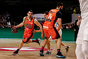 25th March 2018, Madrid, Spain; Endesa Basketball League, Real Madrid versus Valencia; Rafa Martinez (Valencia Basket) breaks away from the defence Jaycee Carroll (Real Madrid Baloncesto) picked by Bojan Dubljevic (Valencia Basket)