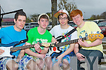 RELAXING: The Beneficial rock band from Tralee relaxing befor playing in the Battle of the Bands in the Brandon Hotel, Tralee on Sunday L-r: PJ Galvin, Danny O'Shea, Luke Stafford-Lacey and Edward O'Carroll..