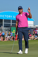 Brooks Koepka (USA) after sinking his putt on 18 during round 4 of the AT&T Byron Nelson, Trinity Forest Golf Club, Dallas, Texas, USA. 5/12/2019.<br /> Picture: Golffile   Ken Murray<br /> <br /> <br /> All photo usage must carry mandatory copyright credit (© Golffile   Ken Murray)