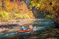 Canoeing the Buffalo National River in Arkansas.