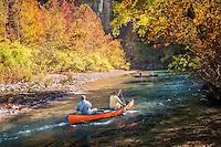 Canoeing the Buffalo National River in Arkansas.