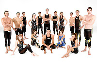 An Italian Swimming team pose for the ARENA adv campaign.