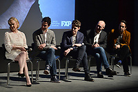 """NEW YORK - APRIL 7: (L-R) Nicole Fosse, Thomas Kail, Steve Levenson, Joel Fields and Lin-Manuel Miranda attend a Q&A after the screening of FX's """"Fosse Verdon"""" presented by FX Networks, Fox 21 Television Studios, and FX Productions at the Museum of Modern Art on April 7, 2019 in New York City. (Photo by Anthony Behar/FX/PictureGroup)"""