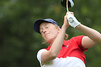 Astrid Vayson de Pradenne (FRA) tees off the 13th tee during Thursday's Round 1 of The Evian Championship 2018, held at the Evian Resort Golf Club, Evian-les-Bains, France. 13th September 2018.<br /> Picture: Eoin Clarke | Golffile<br /> <br /> <br /> All photos usage must carry mandatory copyright credit (© Golffile | Eoin Clarke)