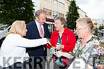 Fianna Fail candidate Norma Moriarty and her party leader Micheal Martin met Eileen  O'Connell Caherciveen on walkabout in Killarney on Friday