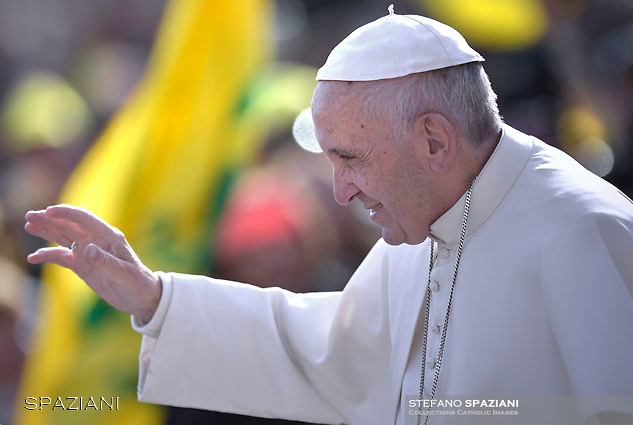 Pope Francis during of a weekly Jubilee Audience at St Peter's square in Vatican. November 12, 2016