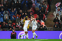 9th November 2019; Wembley Stadium, London, England; International Womens Football Friendly, England women versus Germany women; Ellen White of England celebrates with Nikita Parris on scoring in 45th minute to bring the scores level 1-1 - Editorial Use