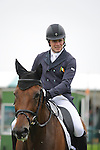 Jim Newsam [IRL] riding Magennis during the Dressage phase of the 2014 Land Rover Burghley Horse Trials held at Burghley House, Stamford, Lincolnshire