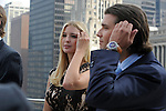 Ivanka and Donald Trump Jr. appear at the topping-off ceremony of the new 92-story tall Trump International Hotel and Tower building in Chicago, Illinois on September 24, 2008.  The building will be the tallest in North America upon its completion in six months.