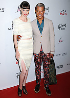 NEW YORK CITY, NY, USA - SEPTEMBER 05: Coco Rocha and Jay Manuel arrive at the 2nd Annual Fashion Media Awards held at the Park Hyatt on September 5, 2014 in New York City, New York, United States. (Photo by Celebrity Monitor)