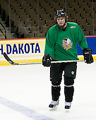 TJ Oshie (North Dakota 7) - The 2008 Frozen Four participants practiced on Wednesday, April 9, 2008, at the Pepsi Center in Denver, Colorado.