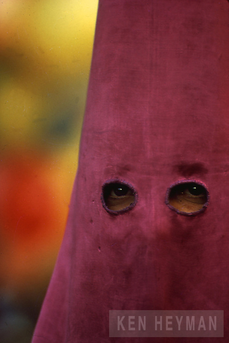 Hooded man, Semana Santa in Seville, Spain