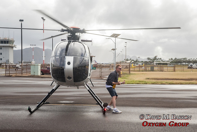 Adam Next To Helicopter, Jack Harter Doors Off Helicopter Tour