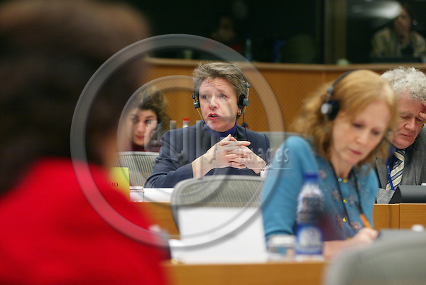 BRUSSELS - BELGIUM - 18 JANUARY 2005 --Muriel DUNBAR, ETF Director, giving her report on the European Training Foundation (ETF) for the Committee on Employment and Social Affairs in the EU Parliament. -- PHOTO: ERIK LUNTANG / EUP-IMAGES