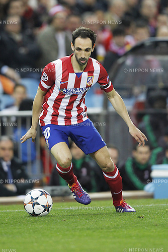 Juanfran Torres (Atletico), MARCH 11, 2014 - Football / Soccer : UEFA Champions League match between Atletico de Madrid and AC Milan at the Vicente Calderon Stadium in Madrid, Spain. (Photo by AFLO) [3604]