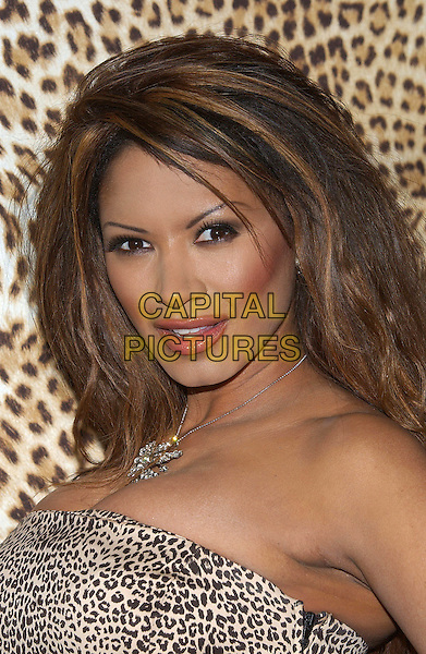 TRACI BINGHAM.Roberto Cavalli unveils his Beverly Hills Boutique on Rodeo Drive with a private party to benefit Race to Erase MS at the Roberto Cavalli Boutique. Beverly Hills, California .February 15th, 2005.headshot portrait  lipliner lipstick over lip line.www.capitalpictures.com.sales@capitalpictures.com.© Capital Pictures.