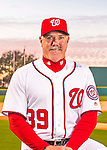 28 February 2016: Washington Nationals Hitting Coach Rick Schu poses for his Spring Training Photo-Day portrait at Space Coast Stadium in Viera, Florida. Mandatory Credit: Ed Wolfstein Photo *** RAW (NEF) Image File Available ***