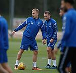 01.08.2018 Rangers training:  Scott Arfield and Lee Hodson