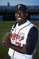 Lansing Lugnuts outfielder Anthony Alford (22) poses for a photo before a game against the Peoria Chiefs on June 6, 2015 at Cooley Law School Stadium in Lansing, Michigan.  Lansing defeated Peoria 6-2.  (Mike Janes/Four Seam Images)