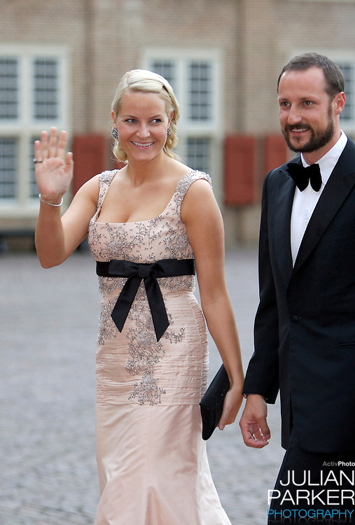 Crown Prince Haakon, and Crown Princess Mette-Marit of Norway, arrive for a Reception at Het Loo Palace in Apeldoorn, to celebrate the 40th Birthday of Crown Prince Willem Alexander, The Prince turned forty in April earlier this year.
