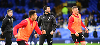 Lincoln City manager Danny Cowley, centre, during the pre-match warm-up<br /> <br /> Photographer Andrew Vaughan/CameraSport<br /> <br /> Emirates FA Cup Third Round - Everton v Lincoln City - Saturday 5th January 2019 - Goodison Park - Liverpool<br />  <br /> World Copyright &copy; 2019 CameraSport. All rights reserved. 43 Linden Ave. Countesthorpe. Leicester. England. LE8 5PG - Tel: +44 (0) 116 277 4147 - admin@camerasport.com - www.camerasport.com