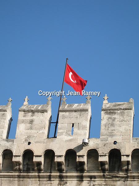 Palace & Turkish flag