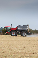 Spraying emerging oilseed rape plants for flea beetle<br /> &copy;Tim Scrivener Photographer 07850 303986<br />      ....Covering Agriculture In The UK....