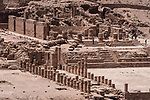 The Great Temple in the ruins of the Nabataean city of Petra in the Hashemite Kingdom of Jordan.  Petra Archeological Park is a Jordanian National Park and a UNESCO World Heritage Site.
